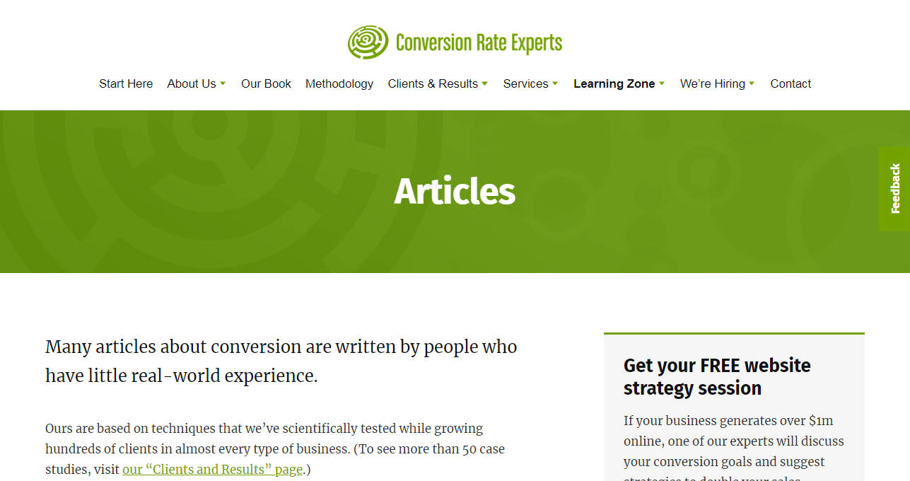 Conversion Rate Experts Business Blog