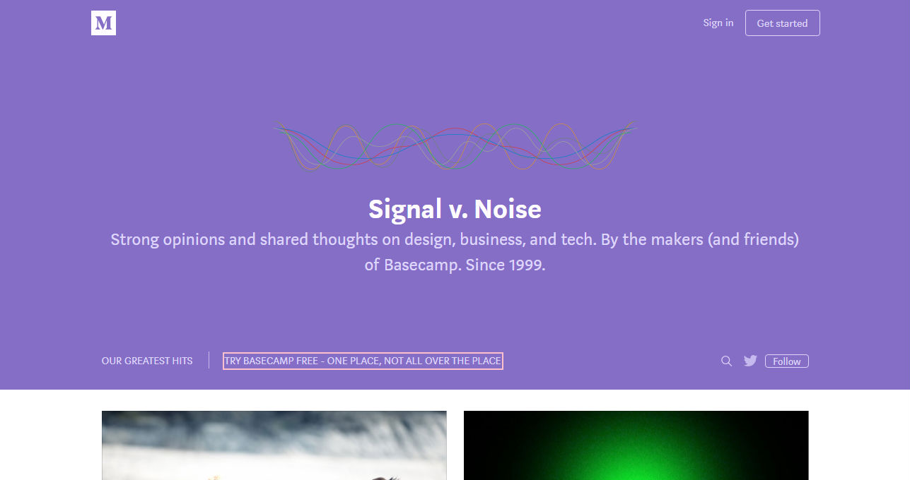 Signal v Noise Business Blog