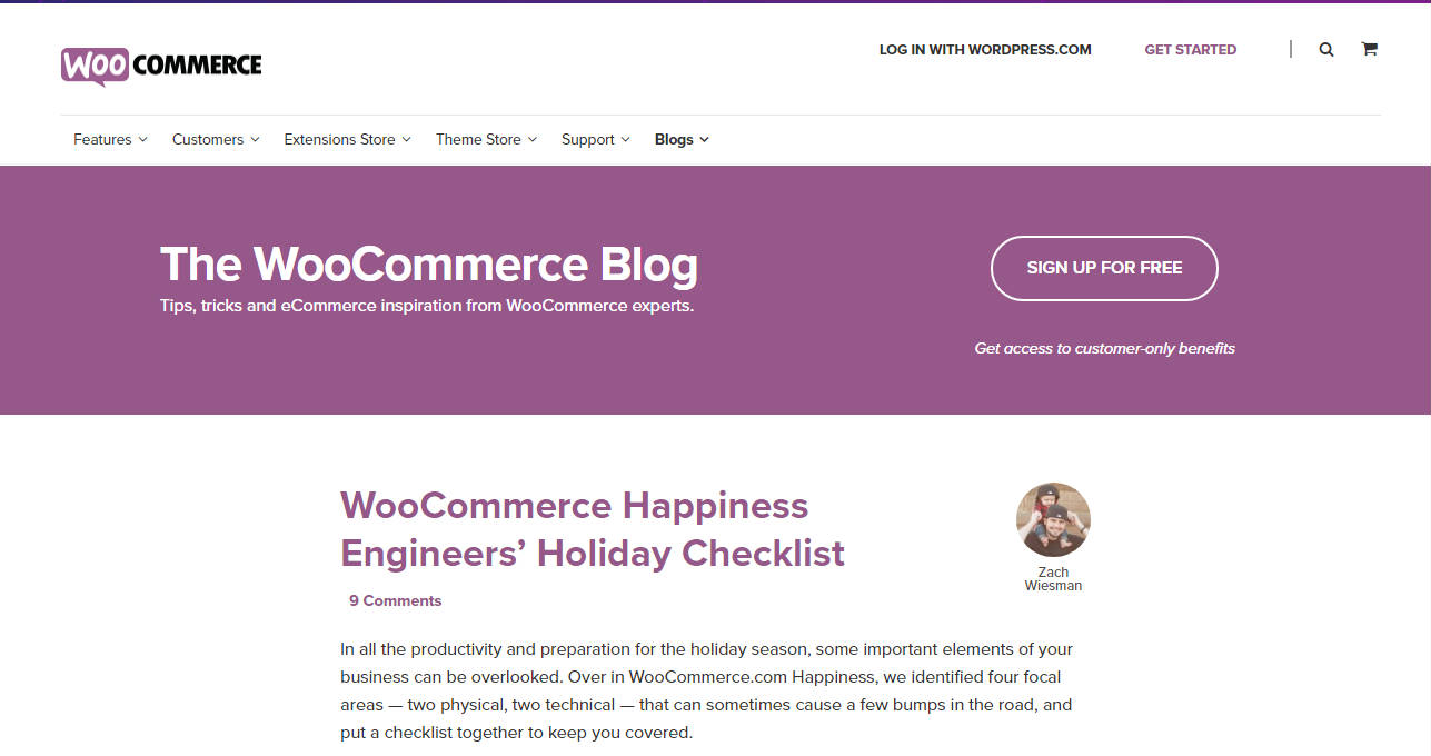 WooCommerce Business Blog